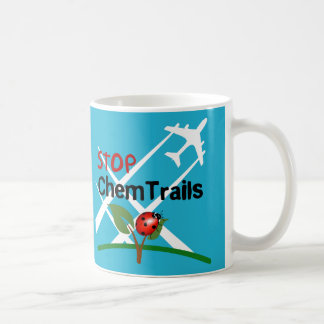 Stop Aerosol Spraying Lady Bug Leaf Coffee Mug