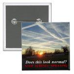 Stop Aerosol Spraying Pinback Buttons