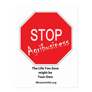 Stop Agribusiness Postcard
