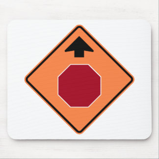 Stop Ahead Highway Construction Sign Mouse Pad