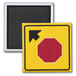 Stop Ahead Highway Sign 2 Inch Square Magnet