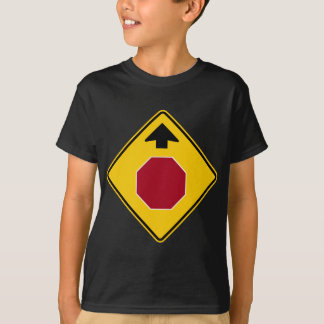 Stop Ahead Highway Sign T-Shirt