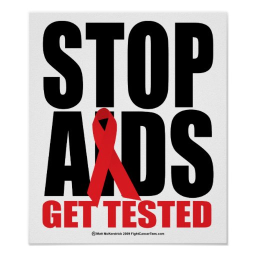 Stop AIDS: Get Tested Poster