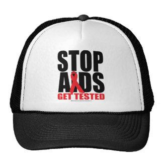 Stop AIDS: Get Tested Trucker Hat