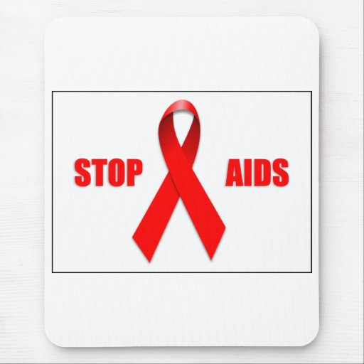 STOP AIDS MOUSE PAD