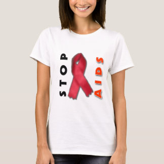 Stop AIDS (Side) T-Shirt