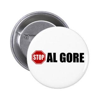 Stop Al Gore Pinback Buttons