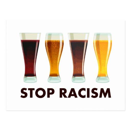 Stop Alcohol Racism Beer Equality Postcard