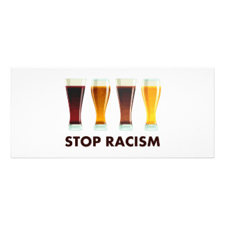 Stop Alcohol Racism Beer Equality Rack Card Design