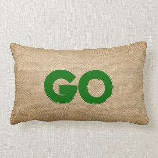 Stop and Go Burlap Throw Pillows