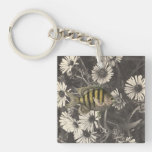 Stop and Smell Daisey Chain Keychain