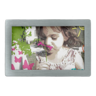 stop and smell the flowers belt buckle
