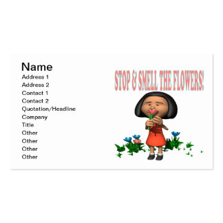 Stop And Smell The Flowers Business Card Templates