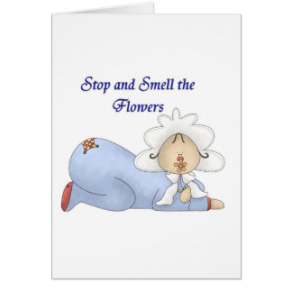 Stop and Smell the Flowers Card