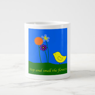 Stop and Smell the Flowers Large Coffee Mug
