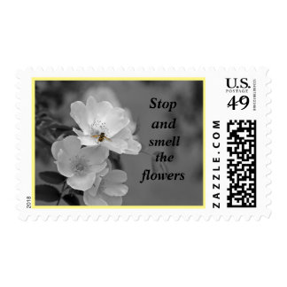 Stop and Smell the flowers Postage