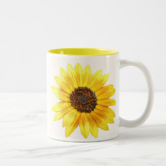 Stop and smell the flowers. Two-Tone coffee mug