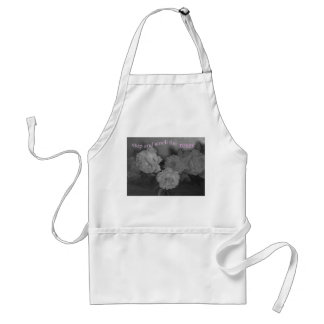 STOP AND SMELL THE ROSES ADULT APRON
