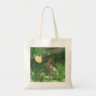 stop and smell the roses tote bag