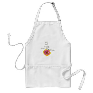stop and smell to flower adult apron