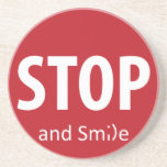 stop and smile coasters