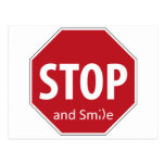 stop and smile postcard