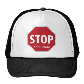 stop and smile trucker hat