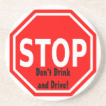 Stop and Think Before You Drink and Drive Coasters