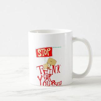 STOP and Think For Yourself Coffee Mug