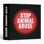 Stop Animal Abuse 3 Ring Binders
