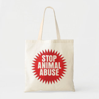 Stop Animal Abuse Canvas Bags