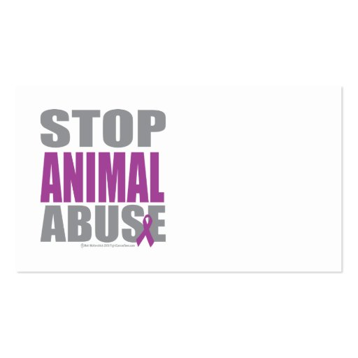 Stop Animal Abuse Business Card