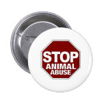 Stop Animal Abuse Button