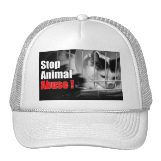 Stop Animal Abuse Cap Trucker Hat