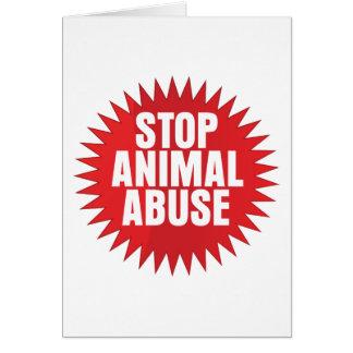 Stop Animal Abuse Card
