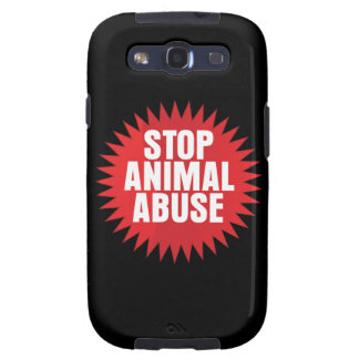 Stop Animal Abuse Galaxy SIII Cases