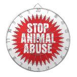 Stop Animal Abuse Dart Board
