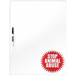 Stop Animal Abuse Dry-Erase Whiteboards