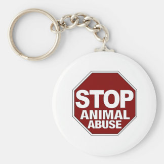 Stop Animal Abuse Keychain