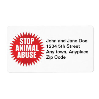 Stop Animal Abuse Label