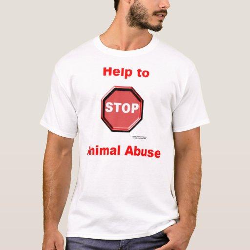 Stop Animal Abuse Men's Melange Ringer T T-Shirt
