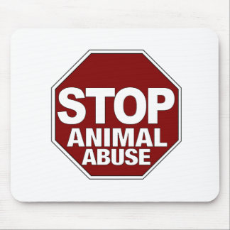 Stop Animal Abuse Mouse Pad