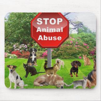 Stop Animal Abuse Mouse Pad