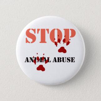 stop animal abuse pinback button