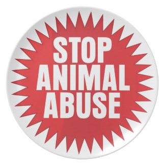 Stop Animal Abuse Party Plates