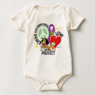Stop Animal Abuse PLP Baby Bodysuit