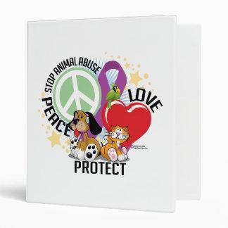 Stop Animal Abuse PLP Vinyl Binders