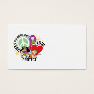 Stop Animal Abuse PLP Business Card