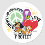 Stop Animal Abuse PLP Classic Round Sticker