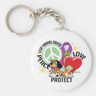Stop Animal Abuse PLP Key Chain